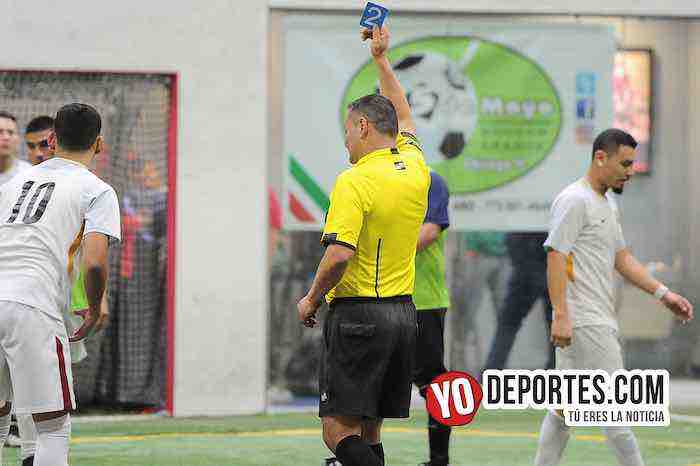 Arbitro Armando Ortega-Cariocas-UNAM 1-Liga 5 de Mayo