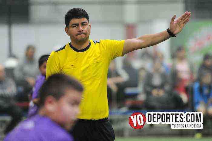 Arbitro Manny Duran-Halcones JC-Teucizapan-Champions Kids Torneo Relampago-Liga Latinoamericana