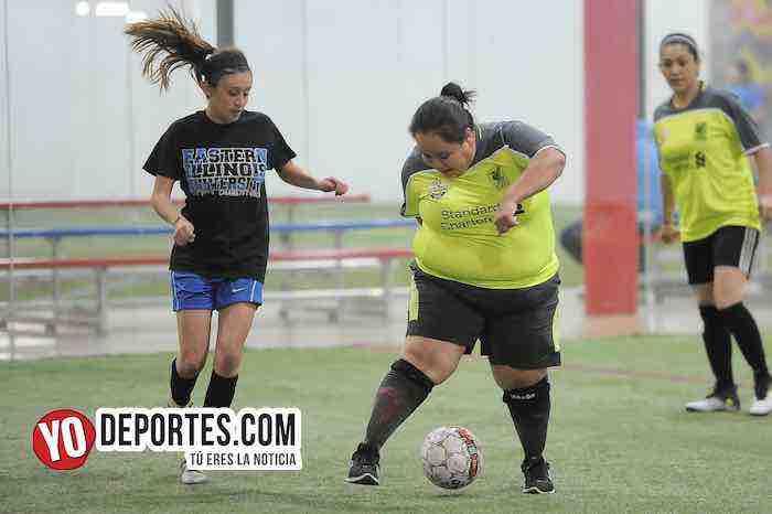Lady Sharks-Deportivo Ocaso-AKD Soccer League Femenil Indoor Futbol Chicago