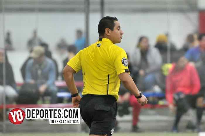 Arbitro Erick Del Rosario-Chicago Elite-Deportivo Monaco-Liga 5 de Mayo