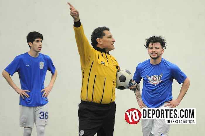 Arbitro Javier Torres El Chino-DC Victoria-Gallos Rojos-Semifinal Torneo Corto Liga Douglas