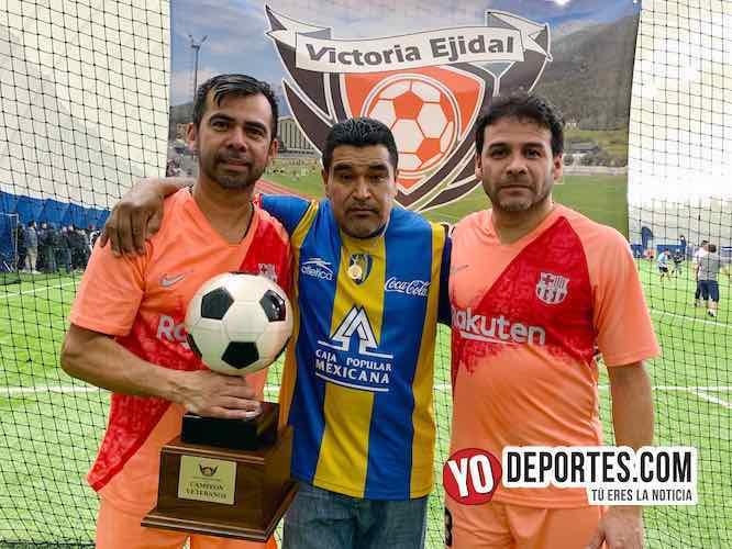 Atlético Potosino campeón de veteranos en la Liga Victoria Ejidal