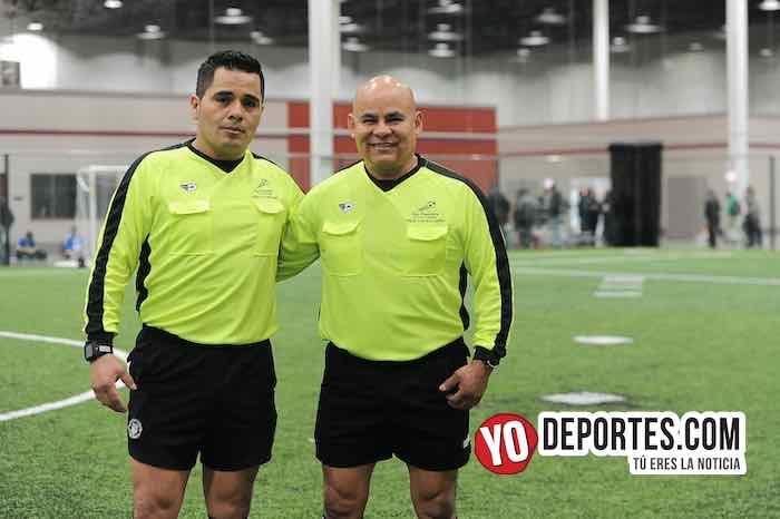 Arbitro Antonio Lopez-Diego Rivera-Boca Jr-FC Studz-Liga San Francisco Champions