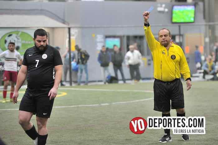 Arbitro Enrique Benitez-Chapas-La Hacienda-Coyotes de Chicago-Liga 5 de Mayo