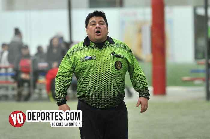 Arbitro Jose Plaza-Arsenal-Aguilas-Liga 5 de Mayo