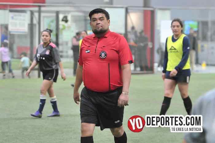 Arbitro Miguel Gutierrez-Fire-Tigres-Liga 5 de Mayo Femenil