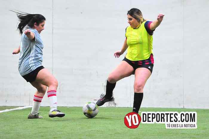 Fire-Tigres-Liga 5 de Mayo Femenil Futbol Indoor