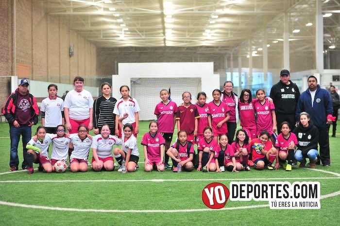 Niñas vs. Niñas en la Liga Douglas: Santitas 2-1 Deportivo 59