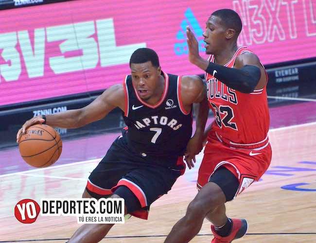 Los campeones Raptors de Toronto amargan noche inaugural a los Bulls
