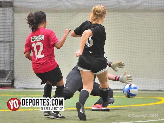 Boca Jr. femenil 2-0 al Chicago Flash en AKD Soccer