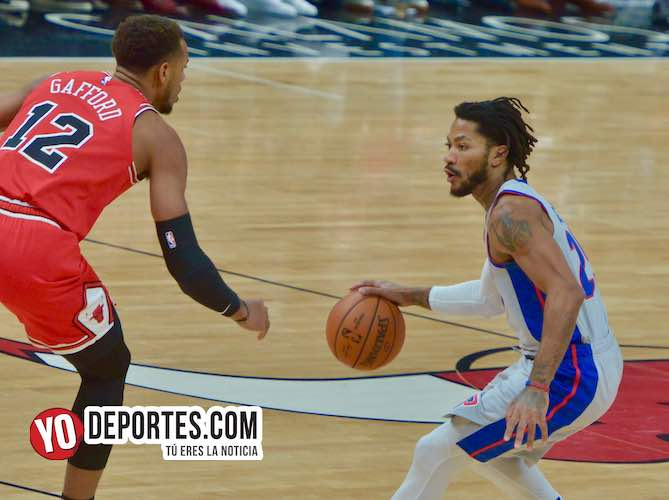 Los Bulls se ven grandes ante los Pistones de Derrick Rose