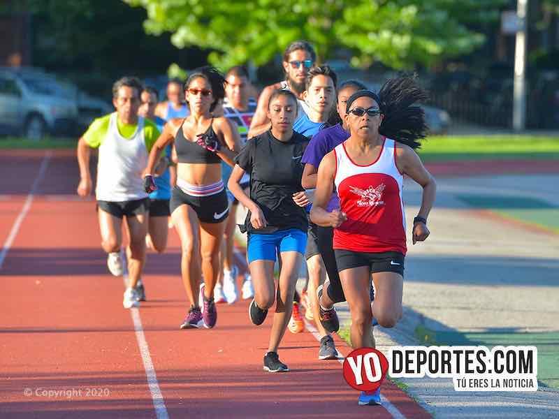 Amigos corren 5K por coronavirus en River Park de Chicago
