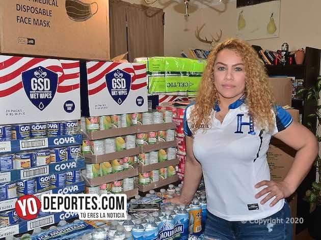 Odalis Zapata contra reloj y lucha por enviar ayuda a Honduras
