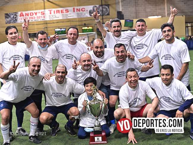 Los Troqueros embistieron al Colonia en la final 40 Plus Soccer League de Hillside