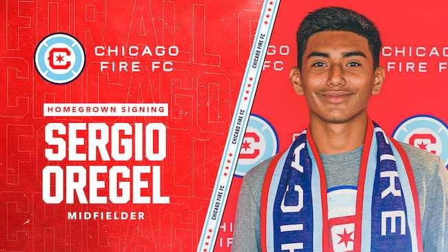 Chicago Fire FC Ficha al Mediocampista Sergio Oregel de las Fuerzas Básicas